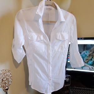 James Perse  panel shirt  100%cottom